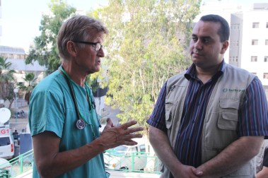 Interpal Gaza Manager with Dr Mads Gilbert, July 2014