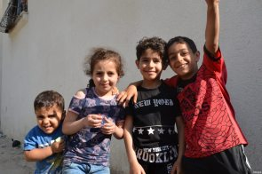 Palestinian children seen during Interpal's efforts to help palestinians in need