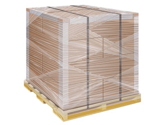 Image result for stretch wrapped pallet
