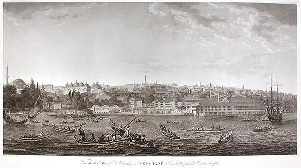 """Pintura de Melling, do livro """"Voyage pittoresque de Constantinople et des rives du Bosphore"""""""