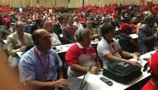 Big e Índio no 17º Congresso Sindical Mundial
