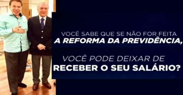 Silvio Santos: SBT proibido de fazer propaganda terrorista sobre reformas