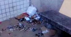 Lixo acumulado no Hospital Regional de São José - risco de contaminação