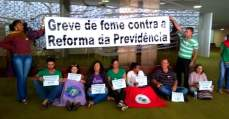 9 dias de greve de fome em defesa da aposentadoria