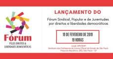 Manifesto do Fórum Sindical, Popular e de Juventudes de Luta pelos Direitos e pelas Liberdades Democráticas
