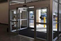 commercial glass entry system