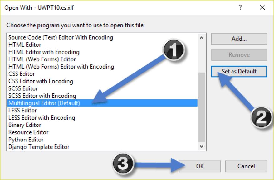 Multilingual Editor Default