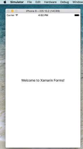 Xamarin application run in iOS 10.2
