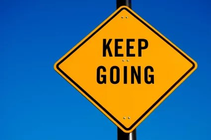 keep going repetition