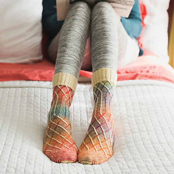 improve your knitting with the slippery slope socks
