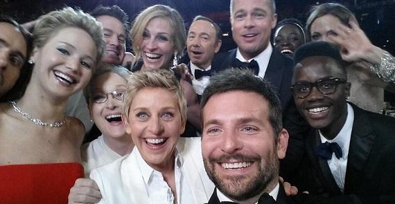 Los Oscar nos dejaron el tuit más retuiteado de la historia