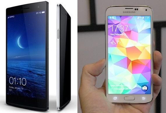 Samsung Galaxy S5 Vs Oppo Find 7