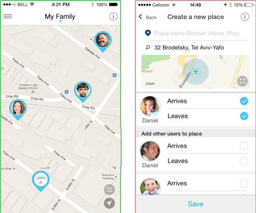 Capturas de pantalla de hereO family app