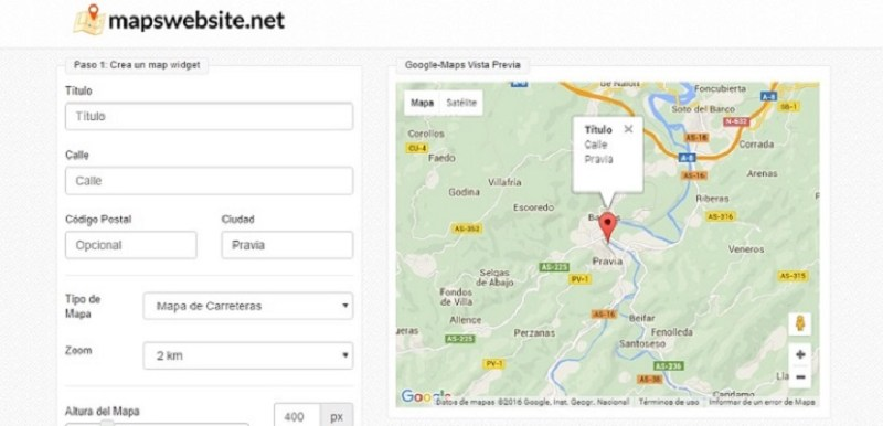 Mapswebsite