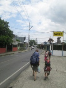 They turned up the heat, too.  It was 104 degrees in Quepos when we walked to the bus.