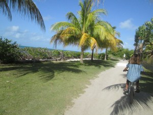 Caye Caulker was a great place to tool around on a bike.