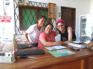 Priscilla and Sandra at La Jungla Hostal -- highly recommended!