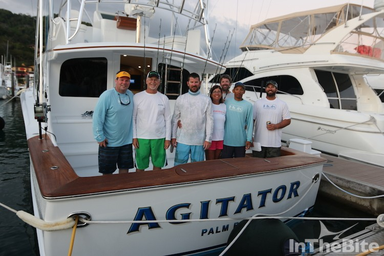 Captain John Duffie led his Agitator team to a second place finish. Anglers included his mother and father.