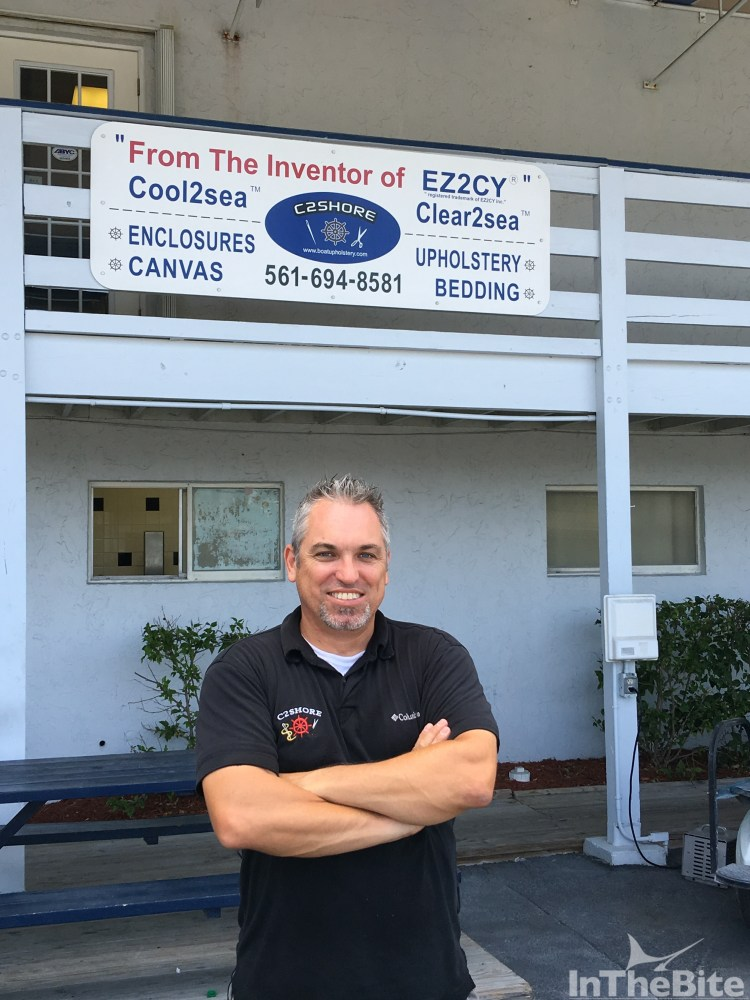 Pictured is Jeremy Shore outside his family run business headquartered at Seminole Boatyard in Palm Beach Gardens, Florida.