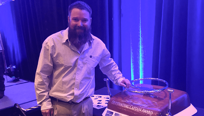 Congratulations Ryan Doxey– 2018 Jim Peachey Outstanding Captain Award