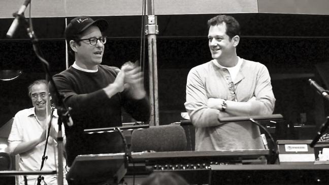 Michael Giacchino and JJ Abrams at Star Trek Into Darkness music recording