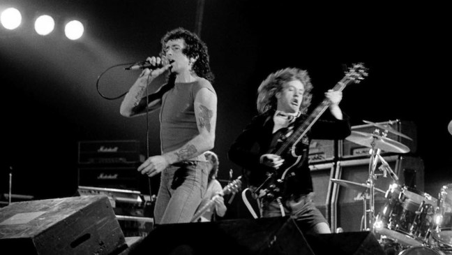 Bon Scott & Angus Young in concert