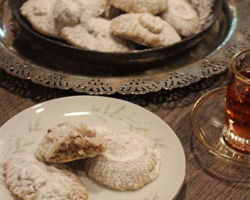 Honey Pecan Stuffed Shortbread Cookies