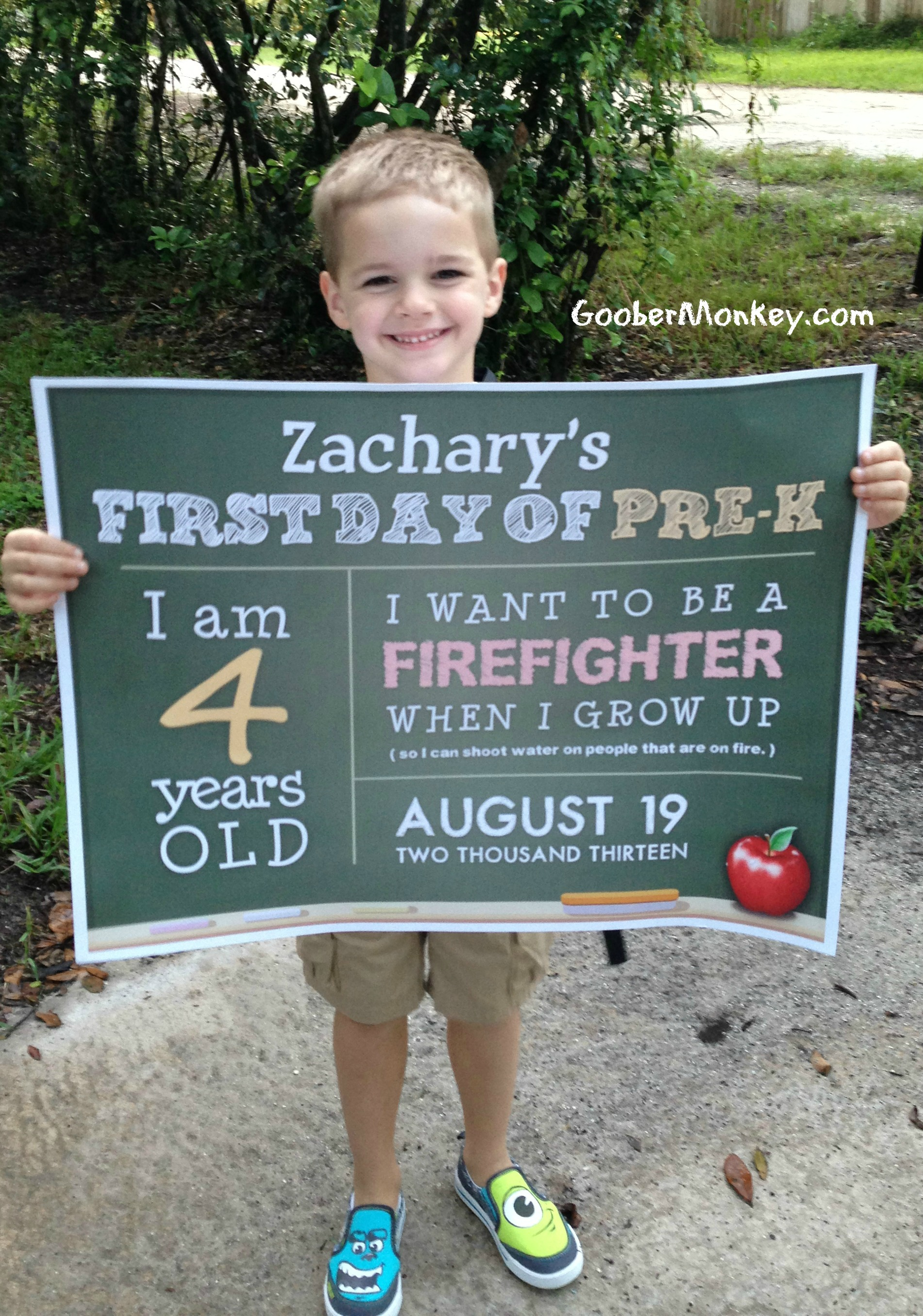 First Day Of School Free Printables From Goobermonkey78 And Seriouskrystyn