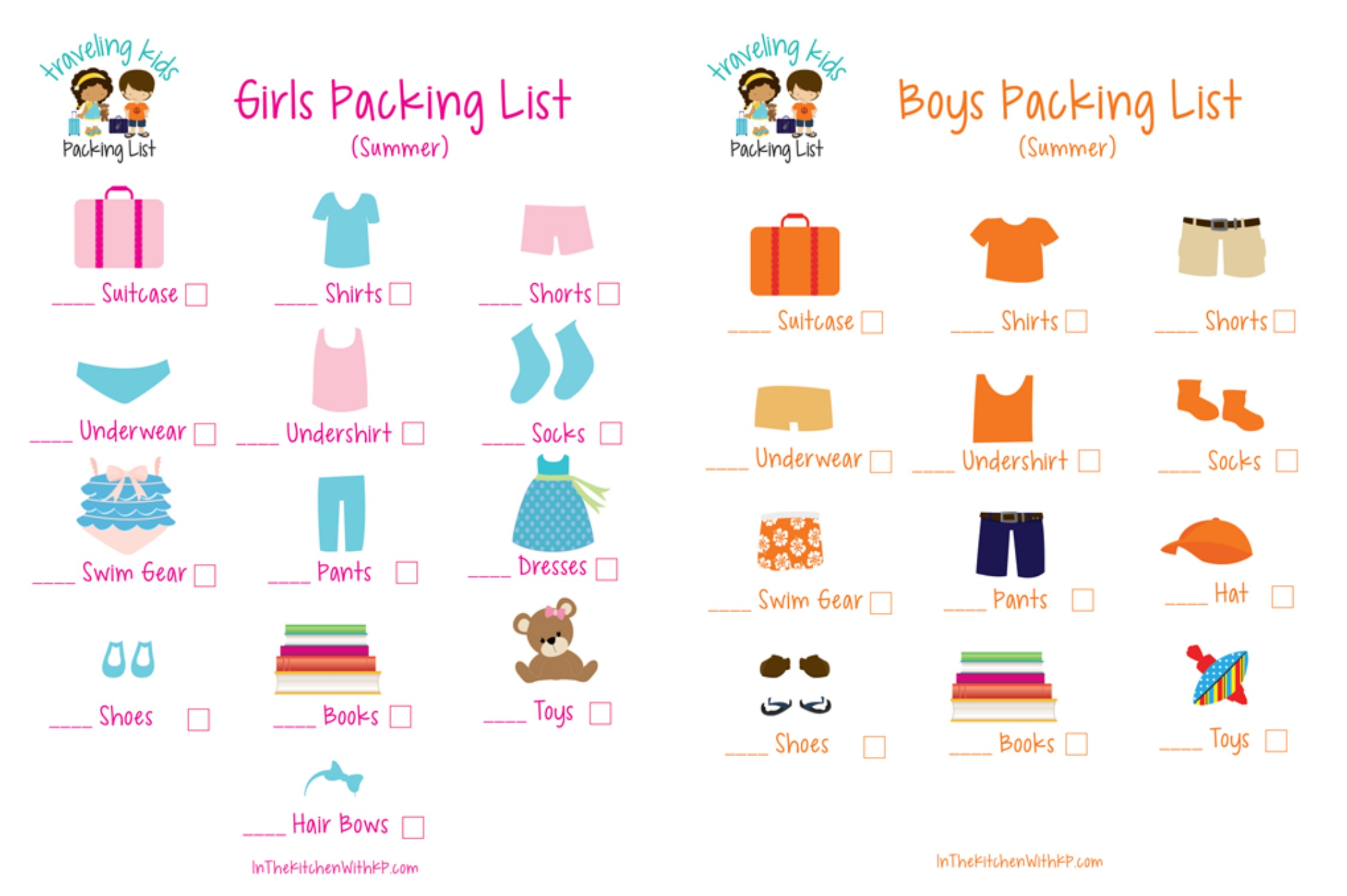 In The Kitchen With Kp Kids Packing List Archives