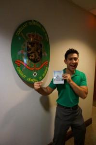 Alex's Visa!