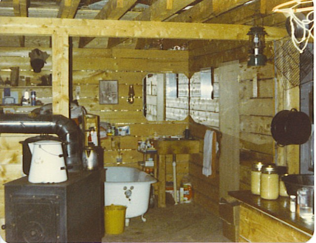 Bathtub and Stove in Maine