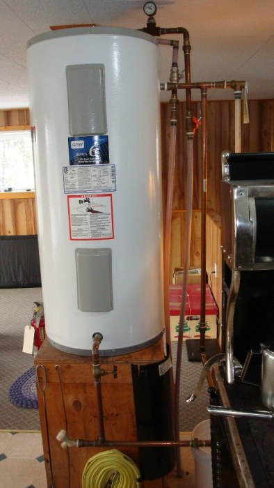 Hot water Tank Plumbed to Wood Stove