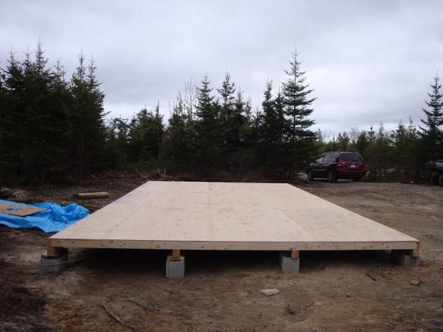 Completed Tent Platform