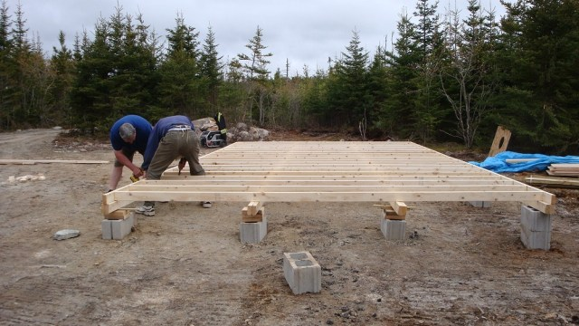 Tent Platform being Built