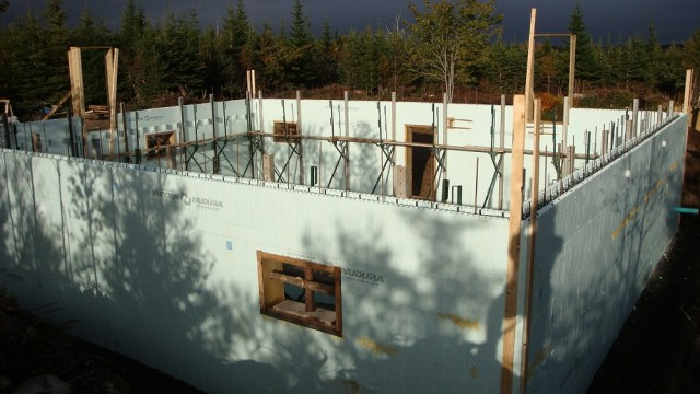 9 Feet of ICF Wall Ready to Pour
