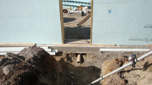 Foundation Drainage System Around Footing