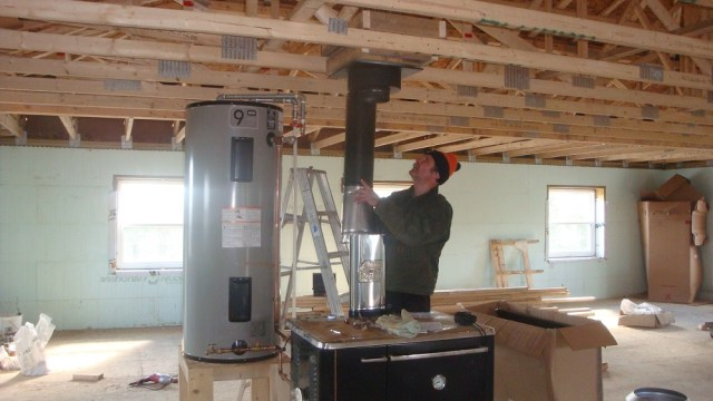 Chimney Installation and Hot Water Tank