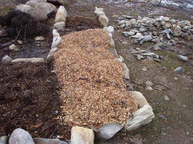 Herb Garden Mulched for Winter