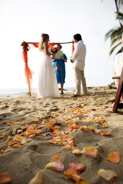 Private Beach Wedding Ceremony