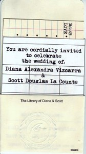Vintage Book Wedding Invitation