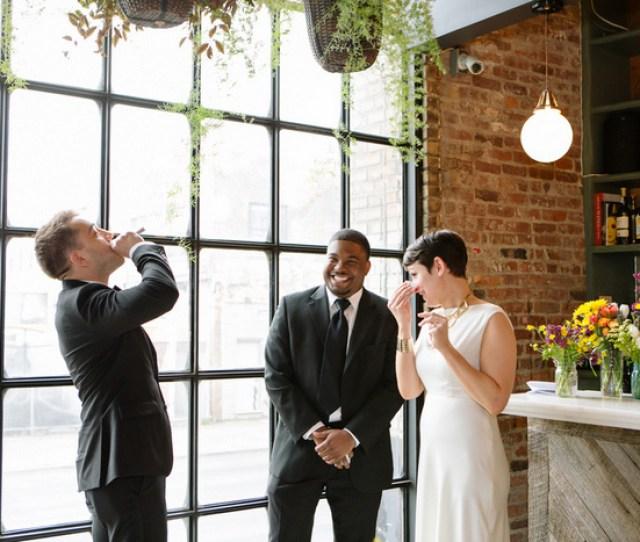 Brooklyn Restaurant Wedding Ceremony