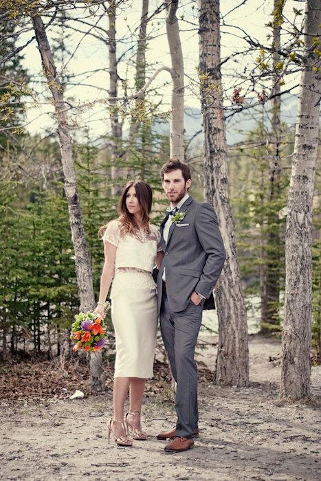 Resultado de imagem para short cropped bridal attire