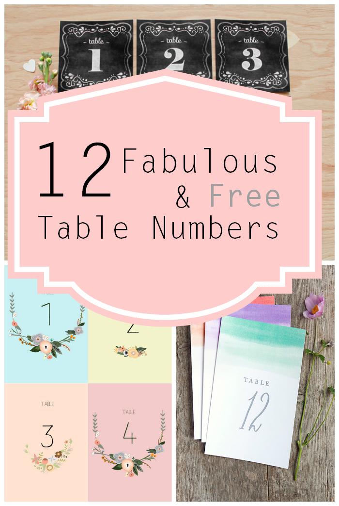 Free Printable Table Numbers