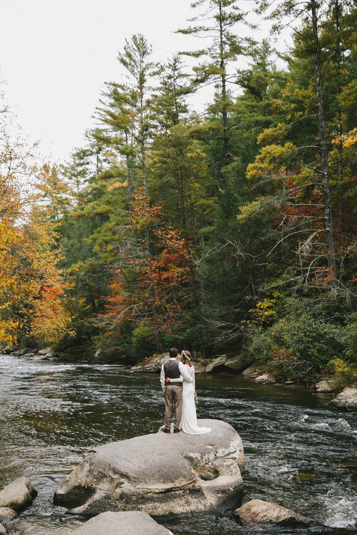 Dane And Danielles Blue Ridge Georgia Wedding Intimate