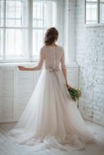 alternative wedding dress colorful pink for valentines romantic wedding