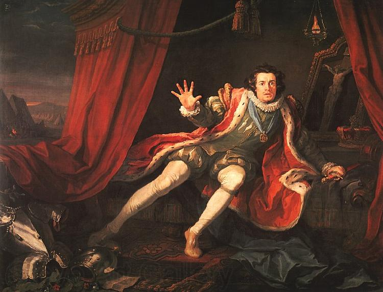 William Hogarth David Garrick as Richard III