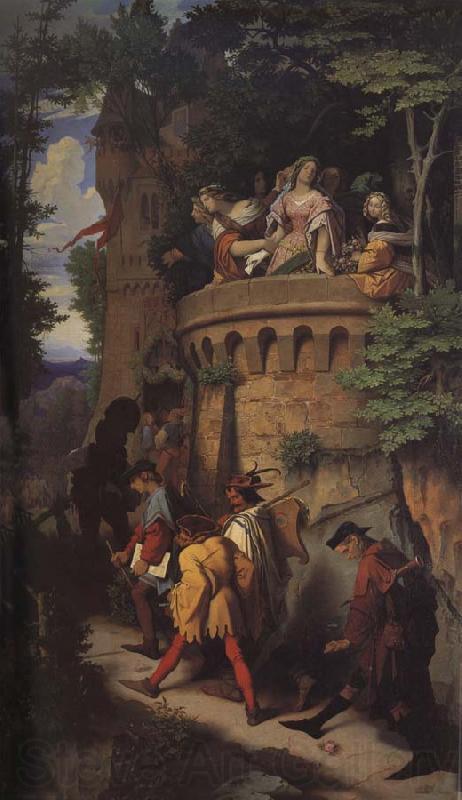 Moritz von Schwind The Rose,or The Artist-s Journey