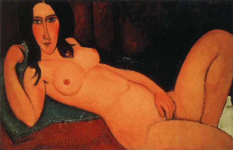 Amedeo Modigliani Reclining nude with loose hair