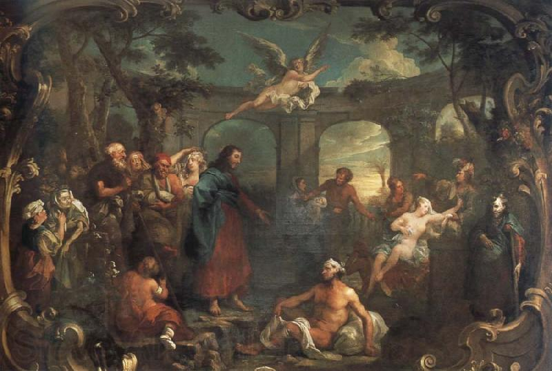 William Hogarth christ at the pool of bethesda