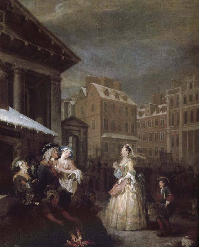 William Hogarth Four hours a day in the morning
